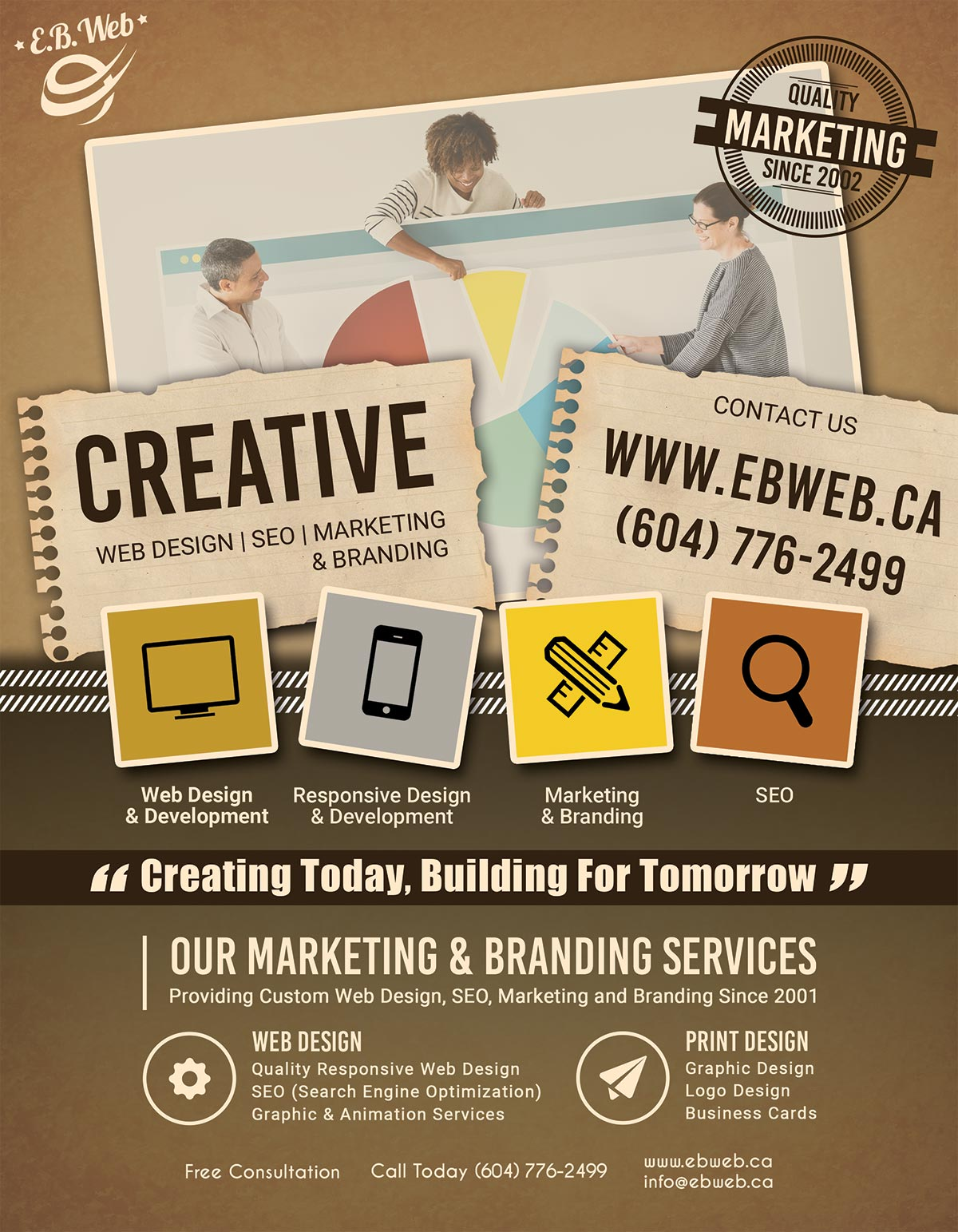 E.B. Web 2019 Flyer Advertisement