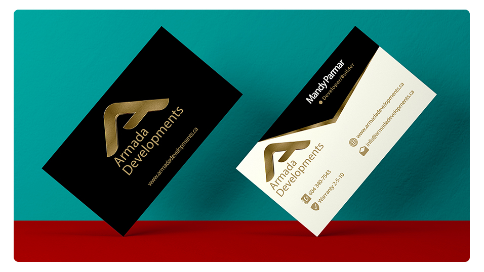 Armada Developments Business Cards, Vector Graphic Design