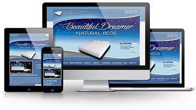 Beautiful Dreamer Natural Beds Mobile Showroom E.B. Web Recent Web Design Project Details
