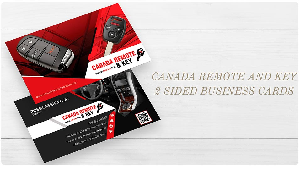 Canada remote key 2 sided business cards print project canada remote and key eb web recent web design project reheart Choice Image
