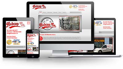 Hubcap Co.  - Hubcaps & Wheelcovers  E.B. Web Recent Web Design Project Details