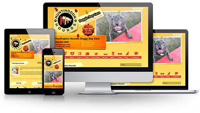 Huntingdon Hounds Doggy Day Care E.B. Web Recent Web Design Project Details