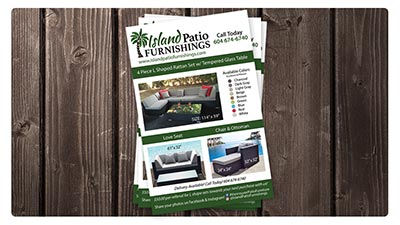 Island Patio Furnishings E.B. Web Recent Print Design Project Details