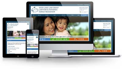Burnaby Korean Law Group E.B. Web Recent Web Design Project